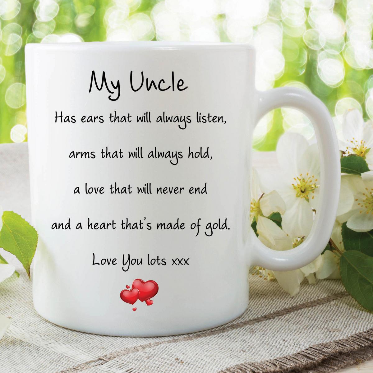 Uncle Mug Love You Lots Heart Of Gold Birthday Gift Christmas Birthday WSDMUG588
