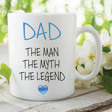 Novelty Dad Mug The Man The Myth The Legend Gift Fathers Day Cup Jokes WSDMUG635 Thumbnail 1
