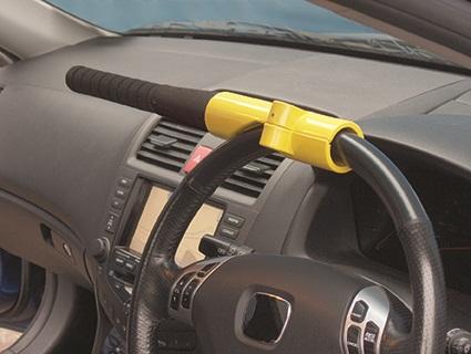 Streetwize SWBBL Automotive Car Van Baseball Bat Style Steering Wheel Lock Single