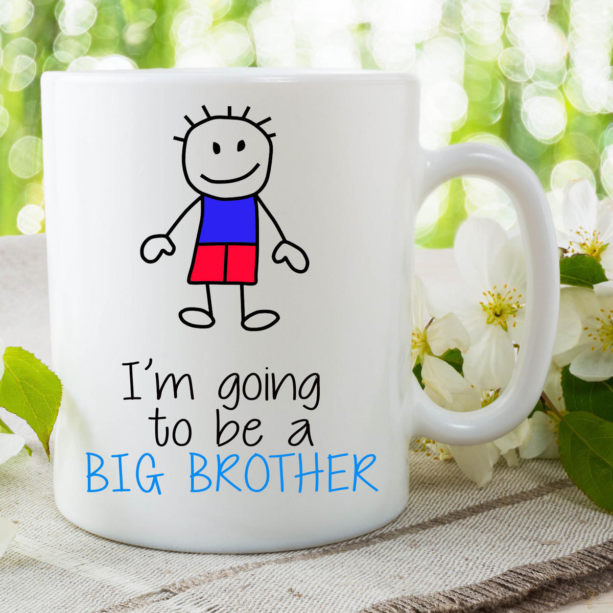 I'm Going To Be A Big Brother Mug Gift For Son Surprise Baby Present WSDMUG661