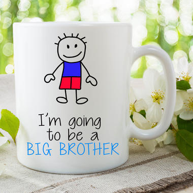 I'm Going To Be A Big Brother Mug Gift For Son Surprise Baby Present WSDMUG661 Thumbnail 1