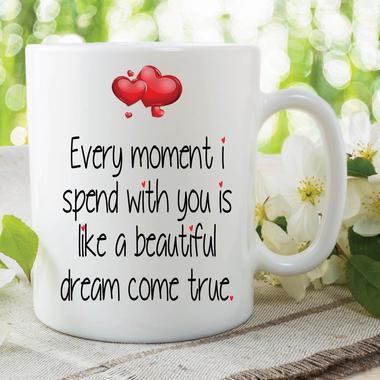 Love Mug Dream Come True Valentines Gift Girlfriend Boyfriend Husband WSDMUG627 Thumbnail 1