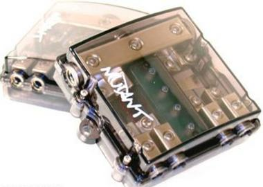 Mutant High Quality AFC Fused 3 in 4 Out 4 / 8 AWG 12v Power Distribution Block with Handy Fuse Diagnostic LED's Thumbnail 1