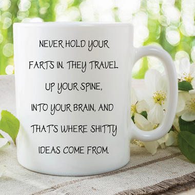 Fart Mug Funny Novelty Gifts Boyfriend Never Hold Your Farts In Cups WSDMUG594 Thumbnail 1