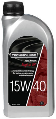 Technolube ATW001 15W-40 Car Van Diesel Mineral 1 Litre Engine Oil Thumbnail 1