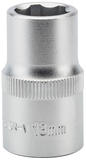 "Draper 09859 Expert 13mm 1/2"" Square Drive Hi-Torq Satin Chrome 6 Point Socket"
