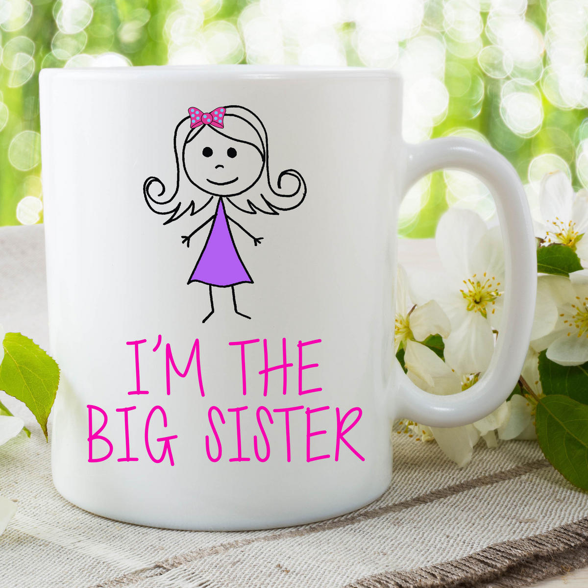 I'm The Big Sister Mug Gift For Daughter Surprise Baby Announcement WSDMUG641