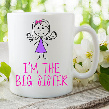 I'm The Big Sister Mug Gift For Daughter Surprise Baby Announcement WSDMUG641 Thumbnail 1