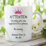 Adult Humour Funny Novelty Mug Princess Quote Tea Coffee Cup Work Gift WSDMUG210