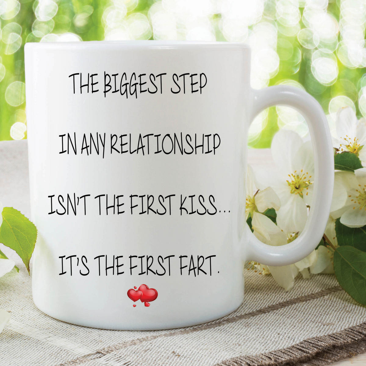 Fart Mug First Fart Funny Novelty Gifts Girlfriend Valentines Joke Cup WSDMUG598