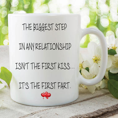 Fart Mug First Fart Funny Novelty Gifts Girlfriend Valentines Joke Cup WSDMUG598 Thumbnail 1
