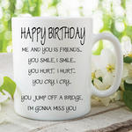 Adult Humour Funny Novelty Mug Best Friends Quote You Me Cup Work Gift WSDMUG215