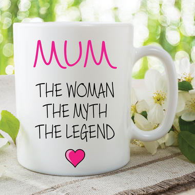 Novelty Mum Mug The Woman The Myth The Legend Gift Mothers Day Cup WSDMUG634 Thumbnail 1