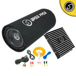 """Bassface BASS8.1 DB2.1 8"""" Inch 800w Car Audio Amp Amplifier Sub Subwoofer Package"""