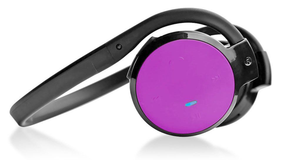 Pyle PHBT5P Bluetooth Streaming Wireless Headphones w/ Built-in Microphone Pink