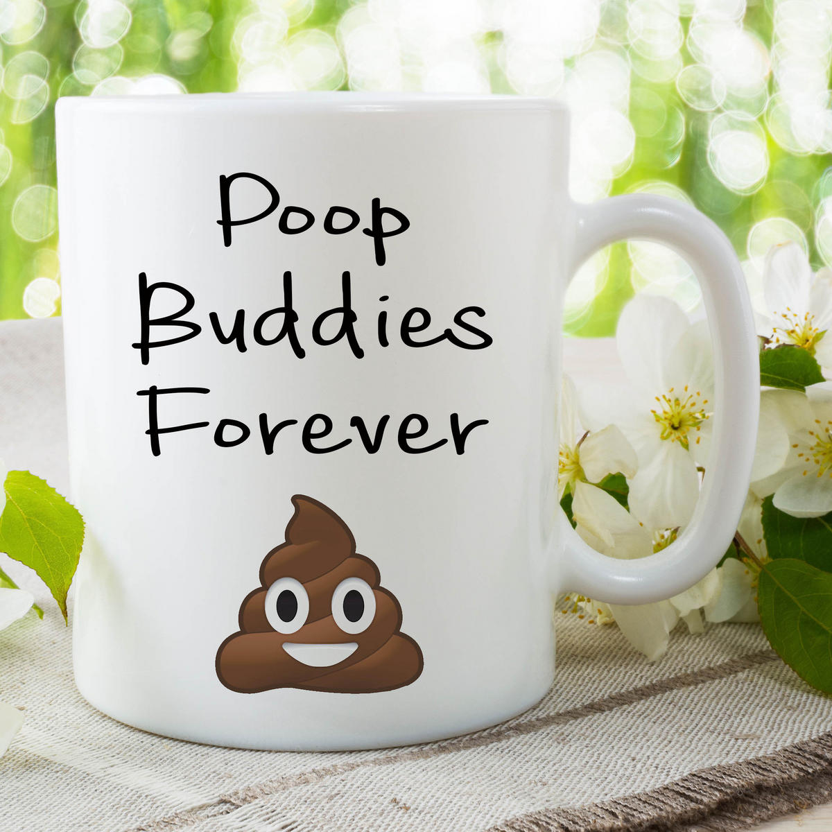 Funny Novelty Poo Mugs Poop Buddies Forever Humour Joke Gifts Cups Fun WSDMUG657