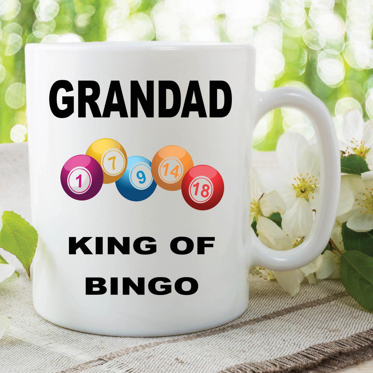 Funny Novelty Mugs Joke Adult Humour Grandad King Bingo Fathers Day WSDMUG610