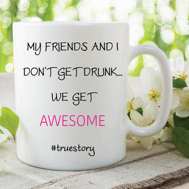 Funny Novelty Mugs Best Friend Gift Birthday Awesome Best friends Cups WSDMUG605 Thumbnail 1