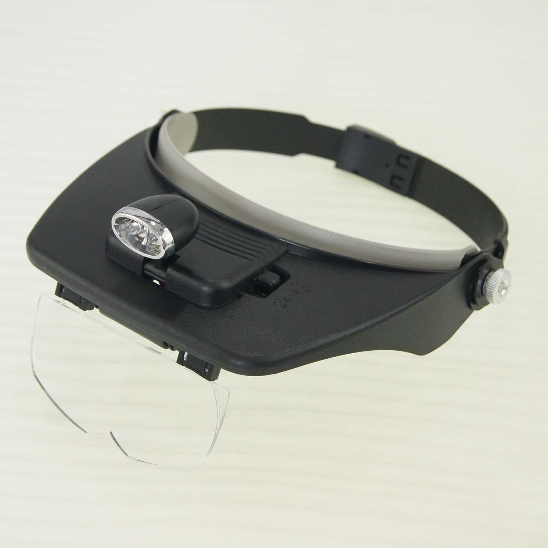 990752 5 lens loupe head magnifier hands free adjustable. Black Bedroom Furniture Sets. Home Design Ideas