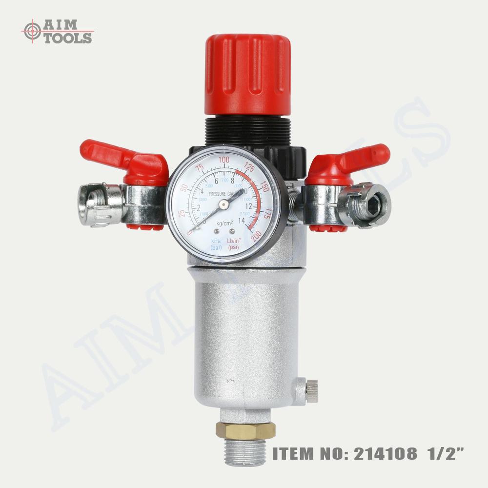 214108 1 2 air compressor pressure filter adjustable regulator water separator ebay. Black Bedroom Furniture Sets. Home Design Ideas