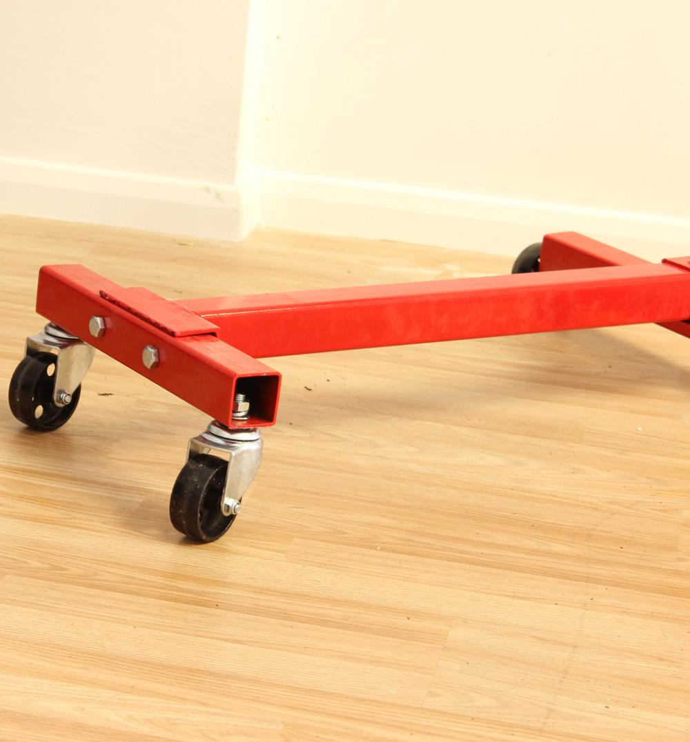 161282 moteur voiture r paration support avec roues 453 6 kg 500kgs ebay. Black Bedroom Furniture Sets. Home Design Ideas