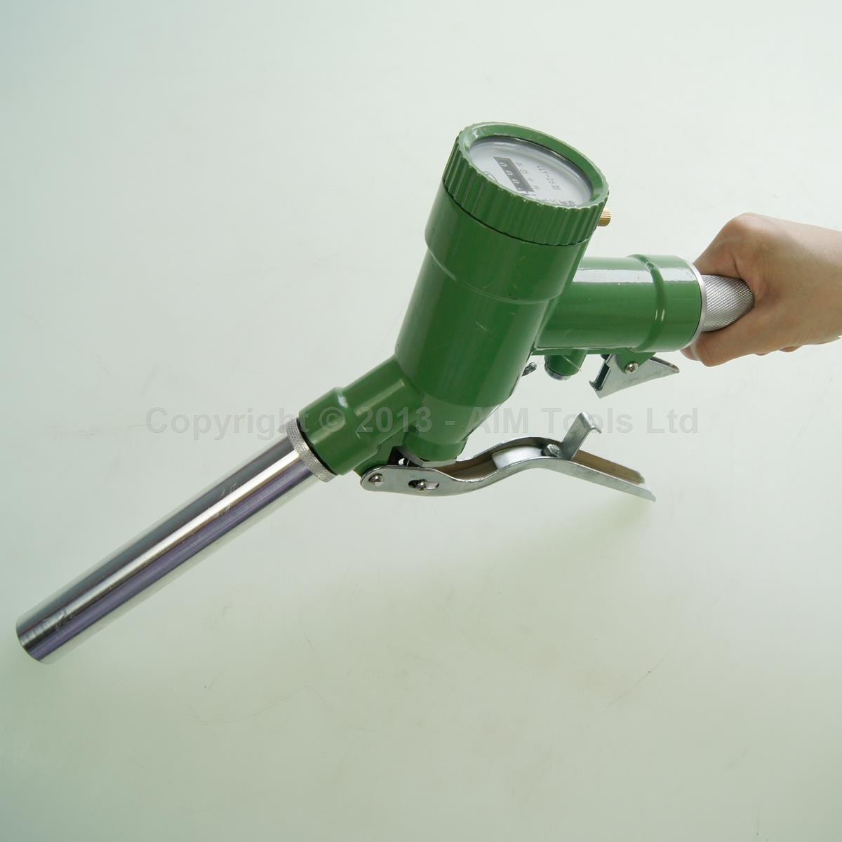 La gasolina sobre los pulverizadores