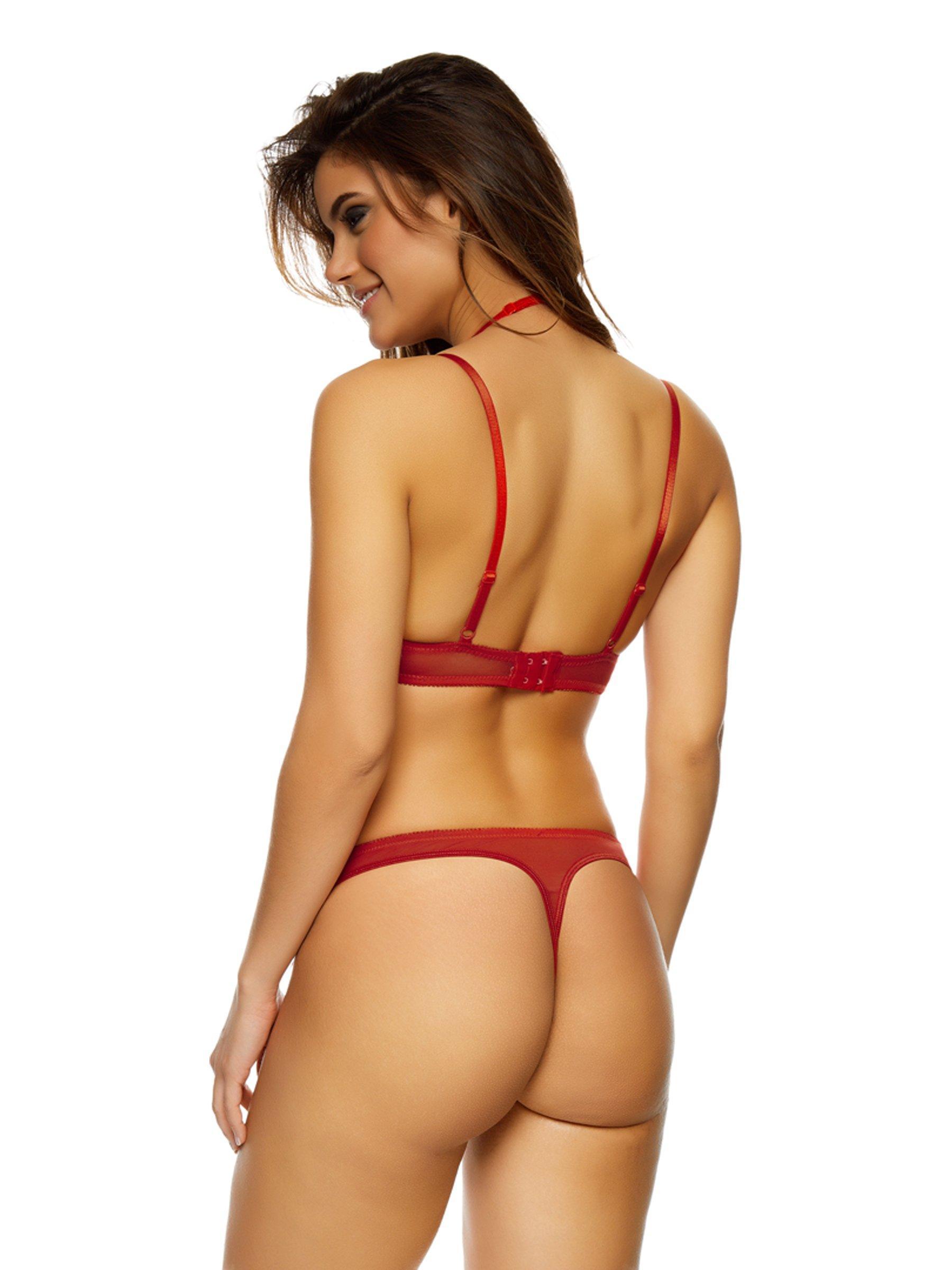 Ann Summers Womens Elana Quarter Cup Bra Red Underwired Sexy ...