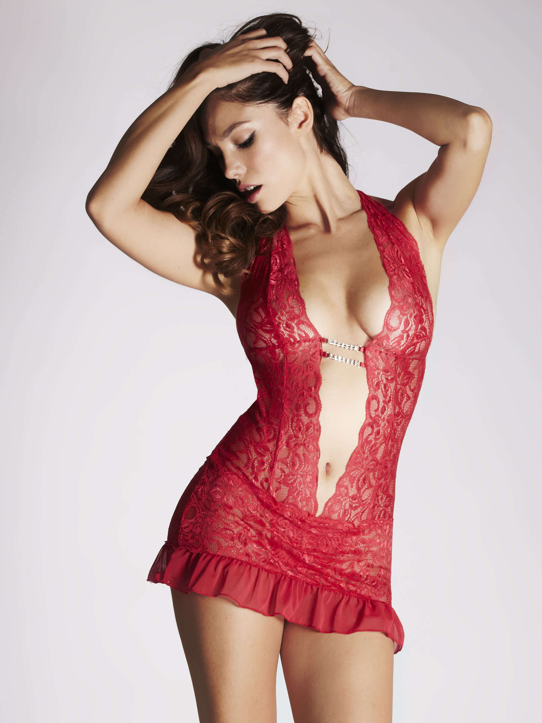 Ann Summers Womens Marydoll Red Lace Body Sexy Lingerie ...