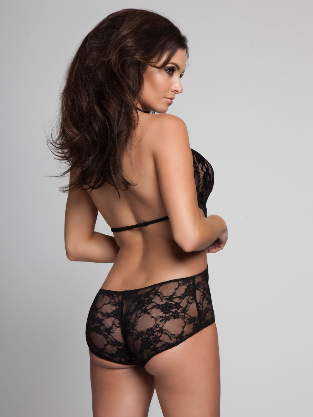 Ann Summers Womens Jamie Lace Body Ladies Black Sexy Lingerie ...