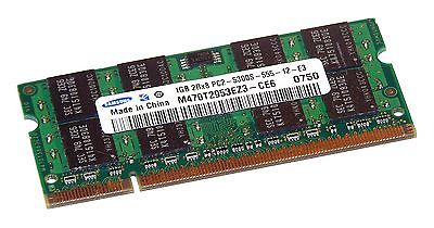 Samsung M470T2953EZ3-CE6 (1GB PC2-5300 DDR2 667MHz SO DIMM 200-pin) RAM Module