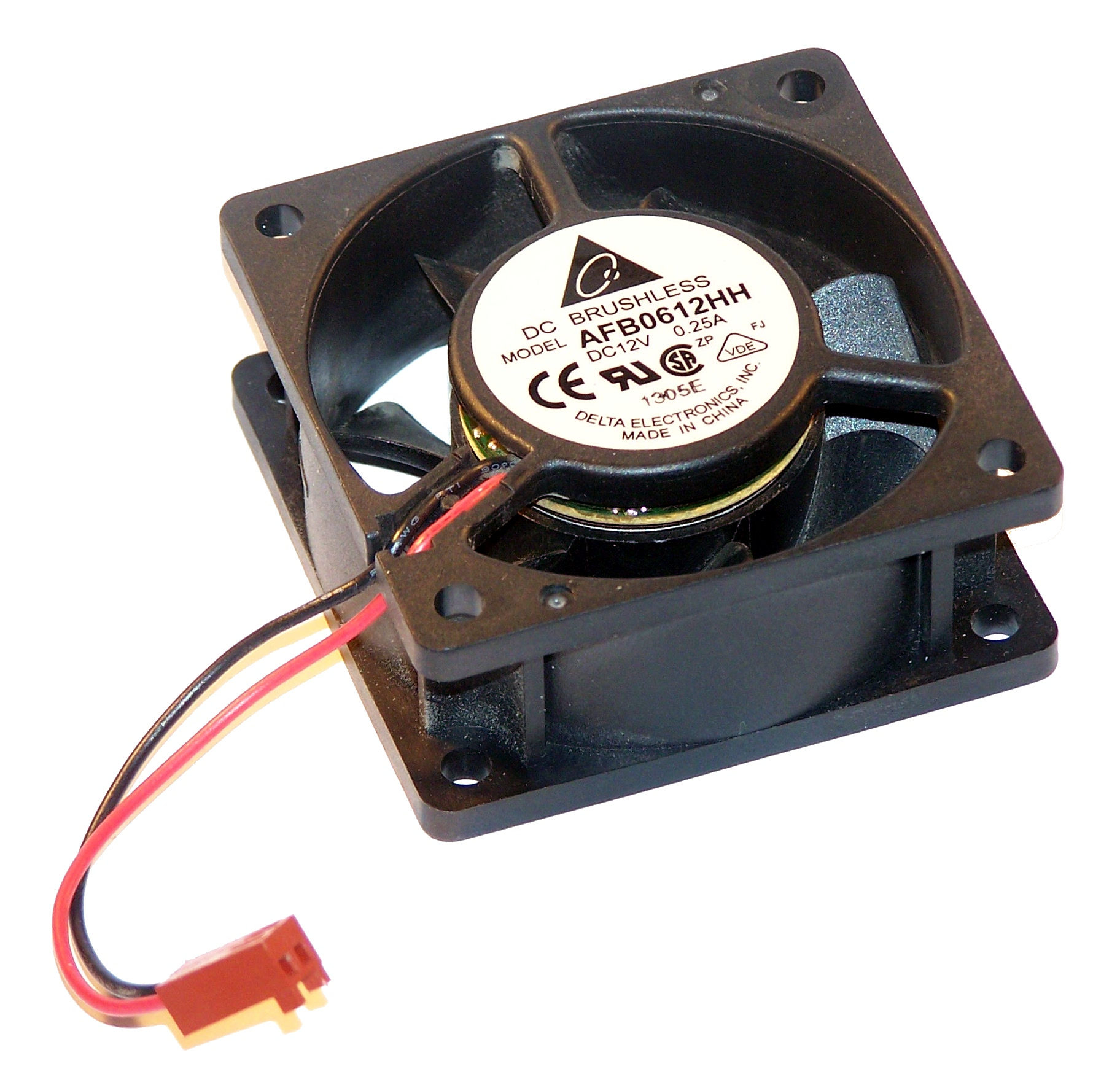 Delta Afb0612hh 12vdc 0 25a 60mm X 25mm 2 Wire Fan For 1u