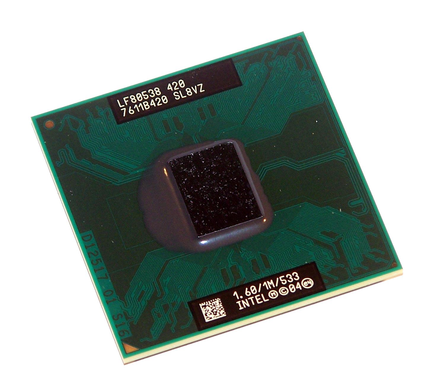 celeron 420_Intel LF80538NE0251M Celeron M 420 1.60GHz Socket M Processor SL8VZ 735858189323 | eBay