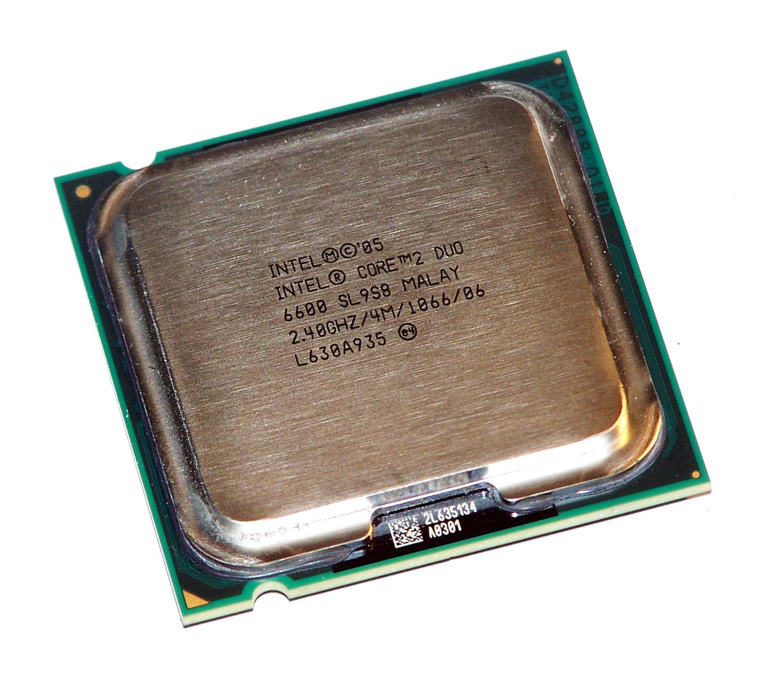 intel hh80557ph0564m core 2 duo e6600 socket t lga775 processor sl9s8 735858190138 ebay. Black Bedroom Furniture Sets. Home Design Ideas