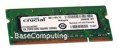 Crucial CT12864AC667 (1GB DDR2 PC2-5300 667MHz SO DIMM 200-pin) RAM Module