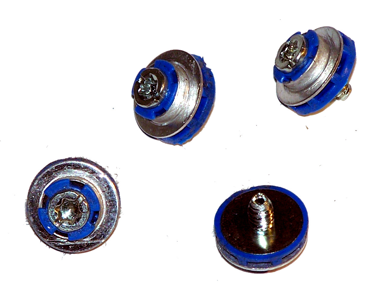 black and blue m3 isolation mounting guide screws