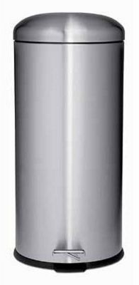 Pedal Bin with Dome Lid - Matt Stainless Steel - 30L