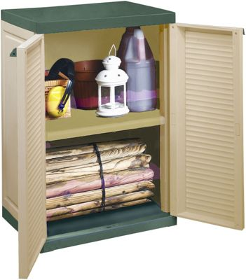 Keter mini patio garage storage cabinet h 92 w 70 d for Garage mini 92
