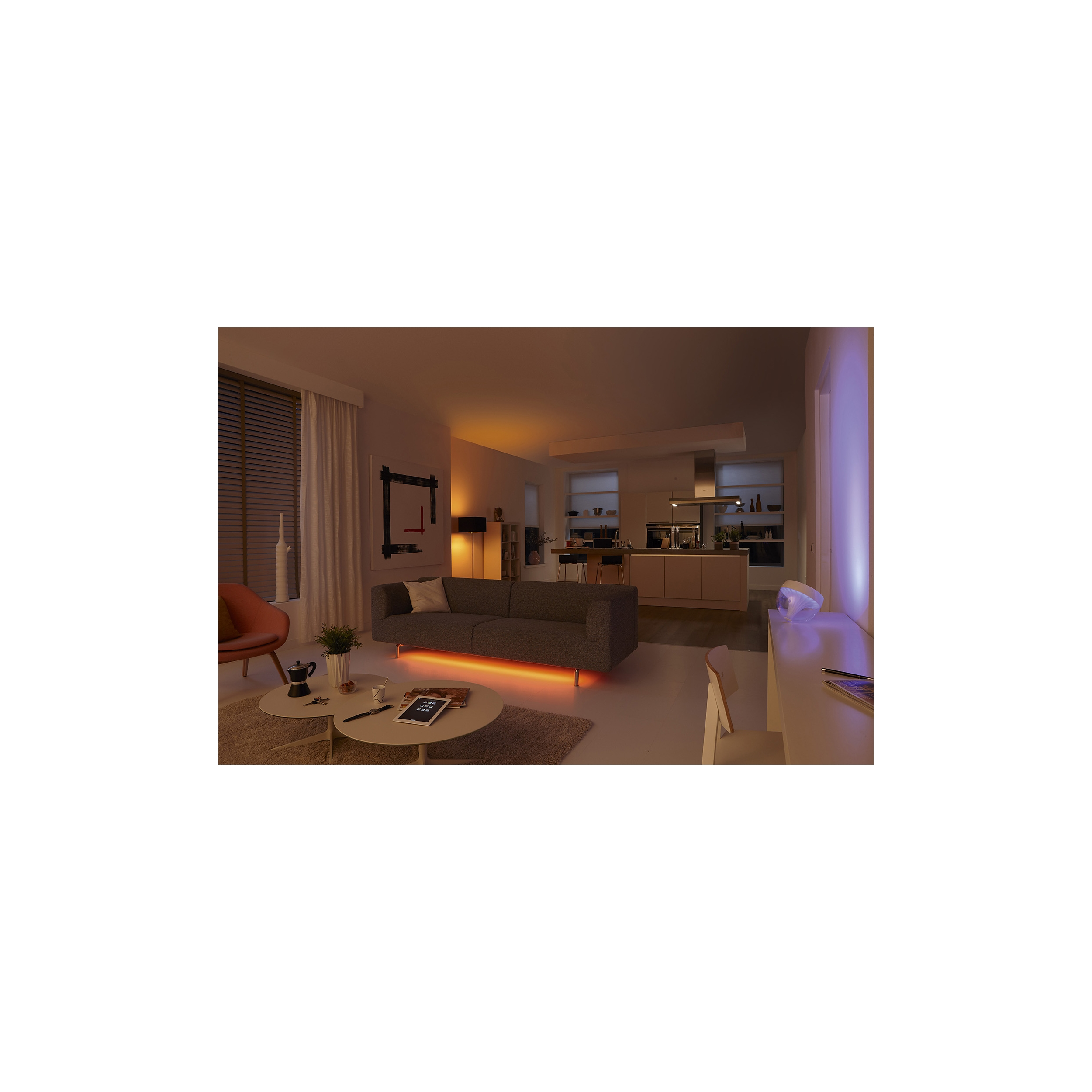 Philips LightStrips Hue WIFi LED Bed LivingRoom Expressive Mood Light Wall Lamp eBay