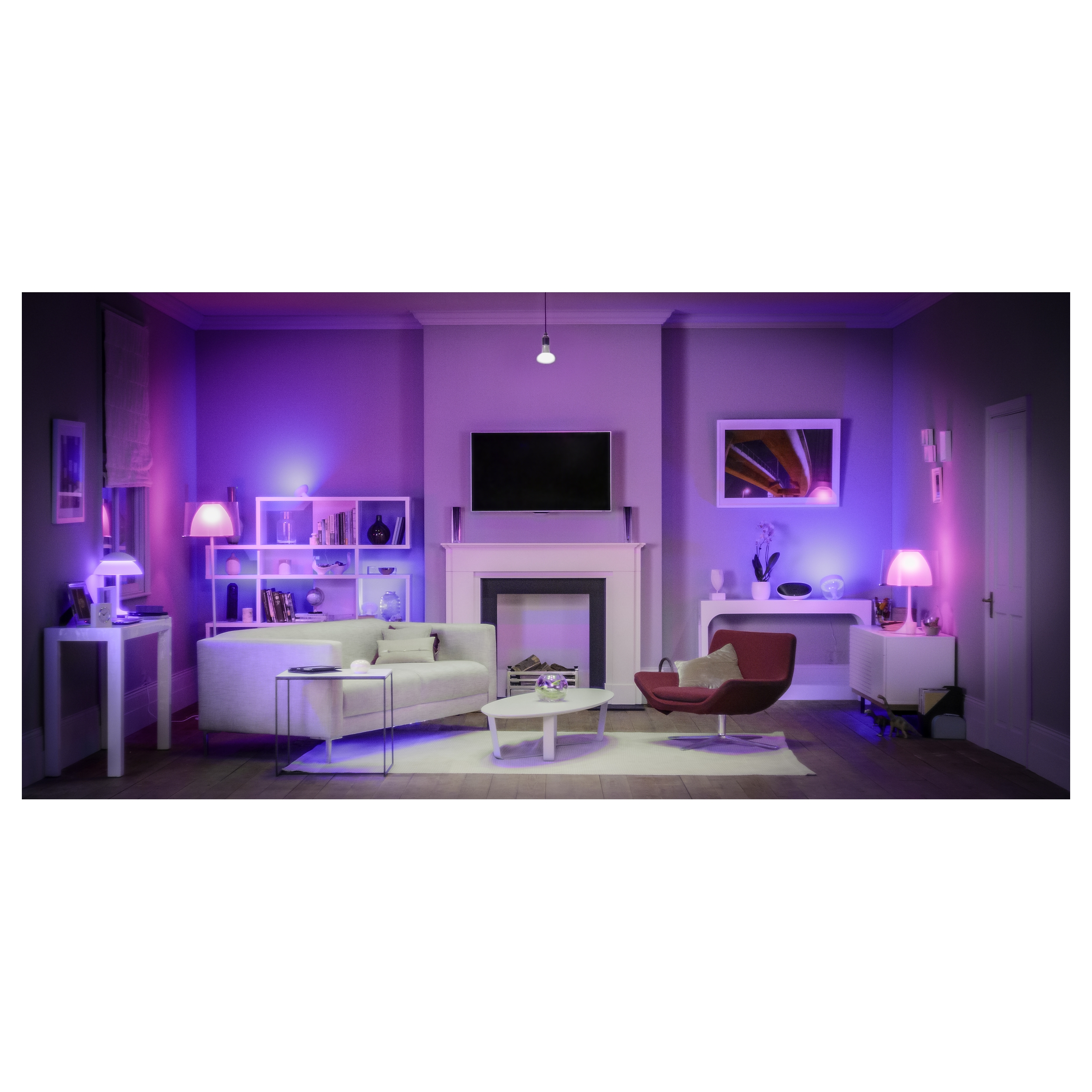 philips hue led personal wireless lighting starter pack 3 lamp bulbs. Black Bedroom Furniture Sets. Home Design Ideas