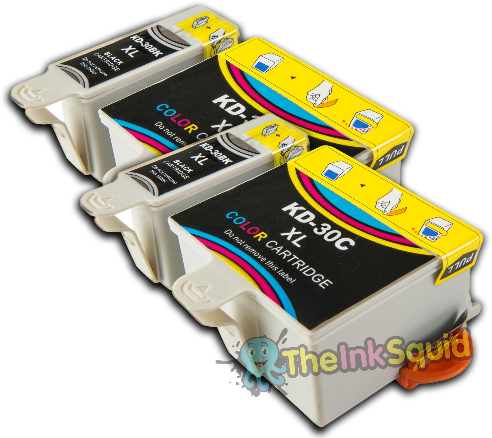 4 Compatible Kodak 30 Non Oem Ink Cartridges