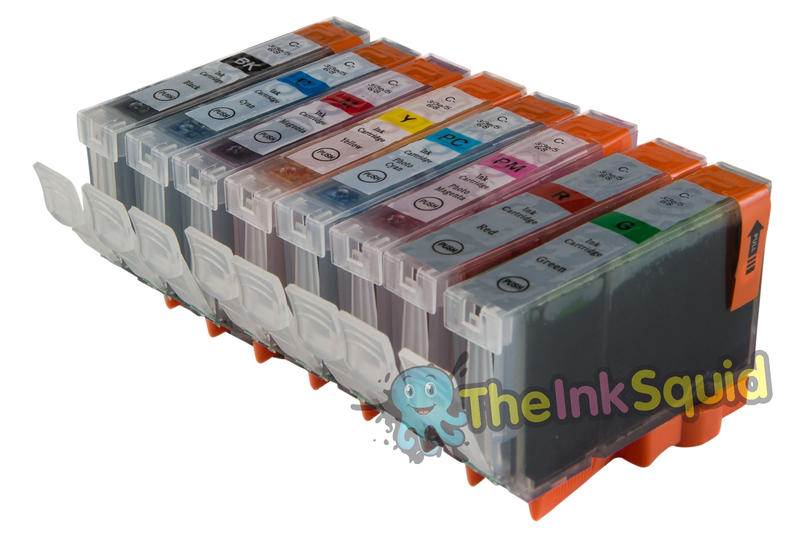 8 x Chipped Compatible CLI-8 Ink Cartridges for Canon ...