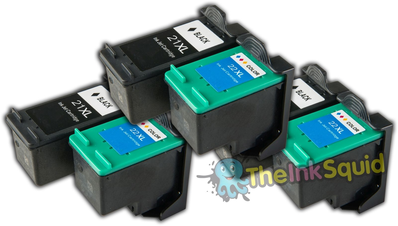 6 X Hp21 Hp22 Xl C9351ce C9352ae Compatible Ink Cartridges For Hp Tinta 22