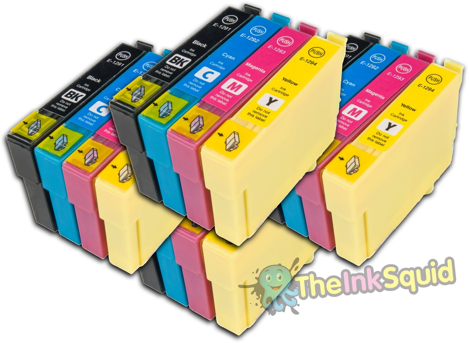 16 t1291 4 t1295 non oem apple ink cartridges fits epson. Black Bedroom Furniture Sets. Home Design Ideas