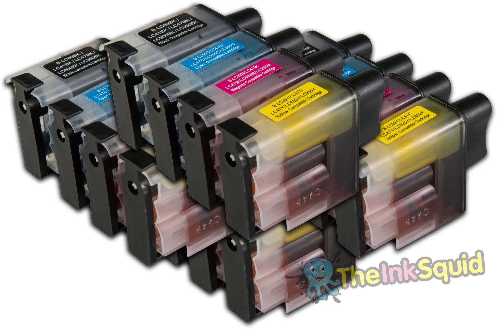 16 LC900 Compatible Brother Printer Ink Cartridges Black