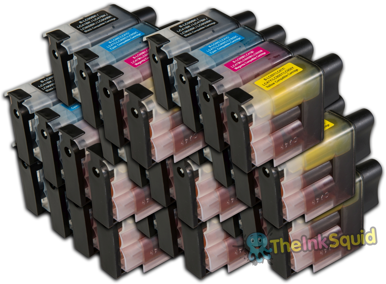 32 LC900 Compatible Brother Printer Ink Cartridges Black