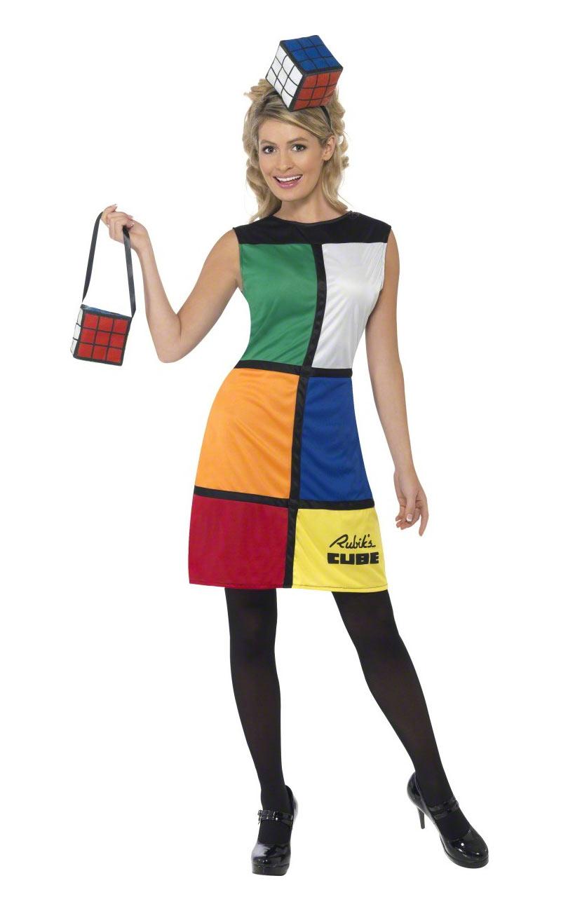rubik s 3d cube clothing costume 80 s theme
