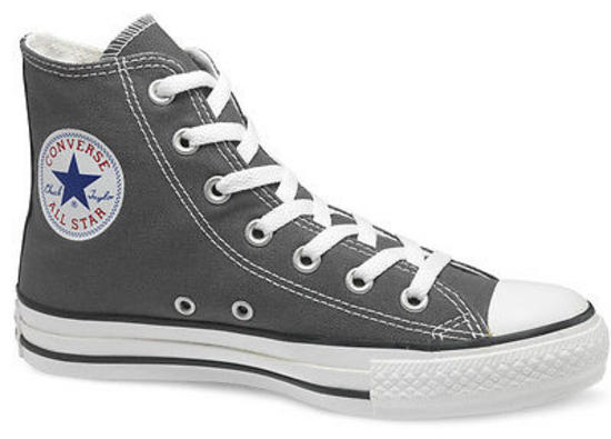 New-Mens-Womens-Converse-Allstar-All-Star-Core-Hi-Charcoal-Canvas-Trainers-3-11