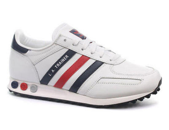 New-Mens-Adidas-Original-LA-White-Navy-Red-Leather-Trainers-7-12-G46192