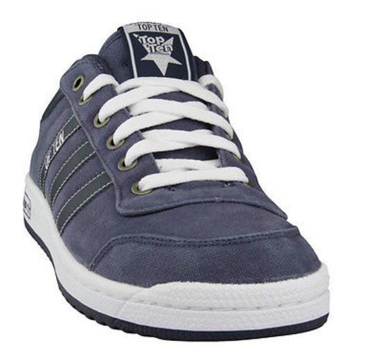 new adidas originals top ten lo navy canvas retro trainers