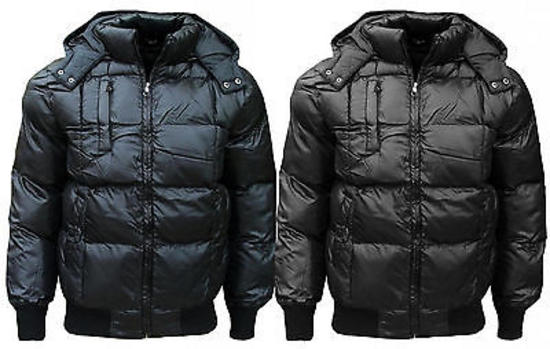 New-SK-5-Mens-Puffa-Puffer-Padded-Bomber-Quilted-Hooded-Coat-Jacket-S-XXL